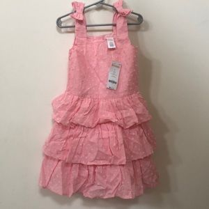 Girls Pink Ruffled Dress